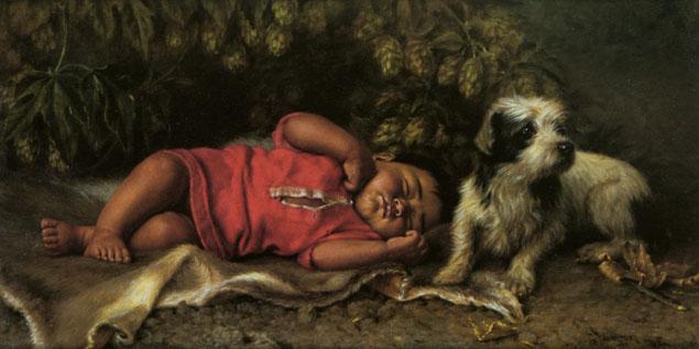 """""""Bebê dormindo e cachorro"""""""