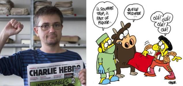 Charge: Touradas – Autor: Stéphane (Charb)