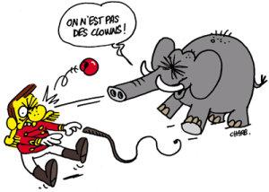 Charge: Circos – Autor: Stéphane (Charb)