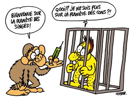 Charge: Experimentação – Autor: Stéphane (Charb)