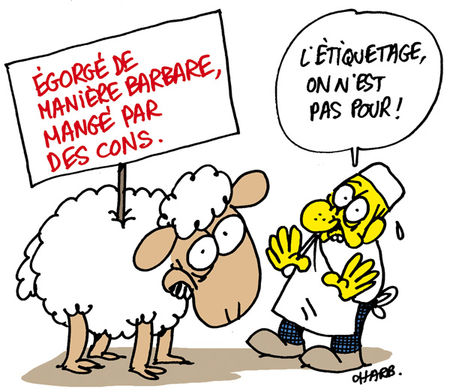 Charge: Alimentação – Autor: Stéphane (Charb)